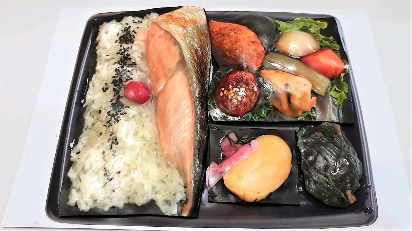 写真のみで簡易立体食品サンプル「お弁当」1品制作
